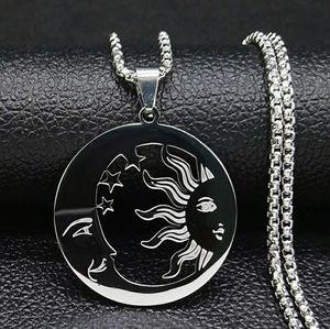 Sun & Moon Silver Necklace